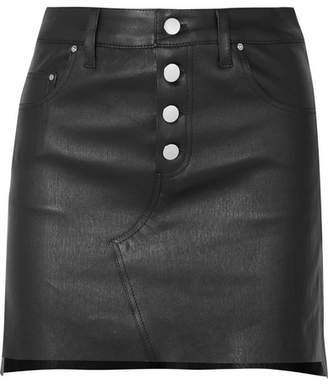Amiri Leather Mini Skirt - Black
