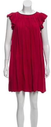 Nicole Miller Silk Pleated Dress