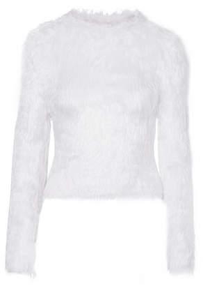 Balenciaga Faux Fur Sweater - White
