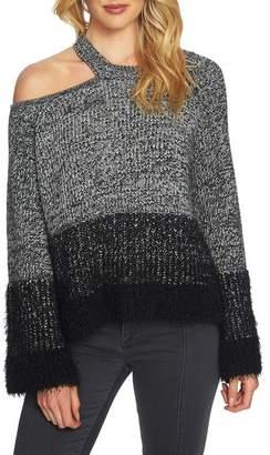 1 STATE 1.STATE Eyelash Fringe Cutout Sweater