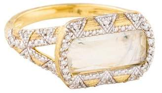 Jude Frances 18K Moonstone & Diamond Uptown Cocktail Ring