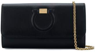 Salvatore Ferragamo embossed horseshoe clutch