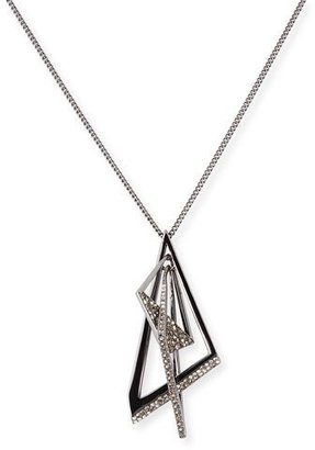 Alexis Bittar Crystal Origami Mobile Pendant Necklace $155 thestylecure.com