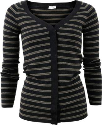 Brunello Cucinelli Off Shoulder Striped Cardigan