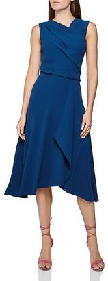 Reiss Marling Sleeveless Draped Dress