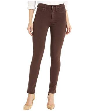 Hudson Jeans Barbara High-Waisted Ankle Skinny Jeans in Bark