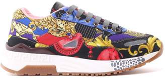 Versace Achilles Barocco And Signature Pillow Talk-print Canvas Trainers