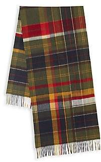 Barbour Men's Fade Tartan Wool Scarf