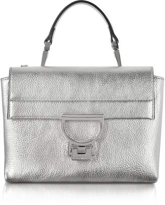 Coccinelle Silver Pebbled Leather Arlettis Mini Bag w/Shoulder Strap