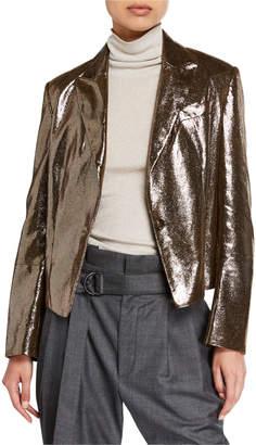 Brunello Cucinelli Sparkling Napa Leather Jacket