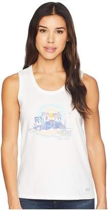 Life is Good Paradise Sleeveless Crusher Tee Women's T Shirt