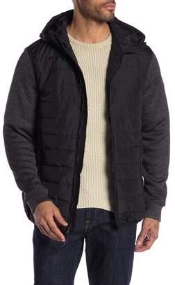 Ben Sherman Knit Sleeve Puffer Jacket