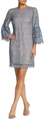 Dress the Population Lace Bell-Sleeve Cocktail Dress