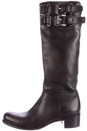 Miu Miu Miu Miu Knee-High Buckle Boots