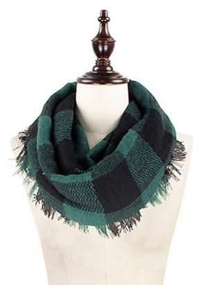 Buffalo David Bitton Plaid Infinity Blanket Scarf by Endless Envy (Burgundy)