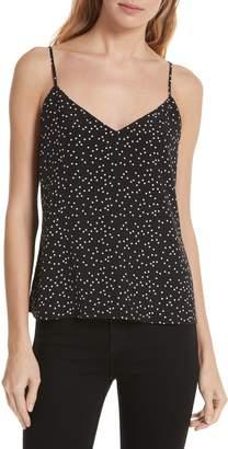 L'Agence Jane Polka Dot Silk Camisole