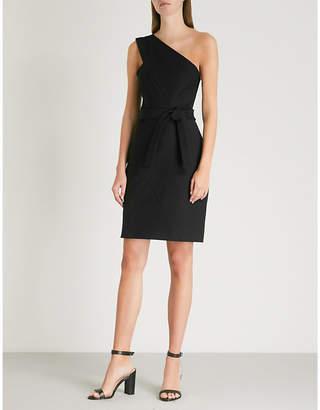 Maje One-shoulder stretch cotton-blend dress