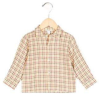 Papo d'Anjo Boys' Plaid Button-Up Shirt