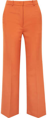 Joseph Grain De Poudre Wool-blend Flared Pants - Orange