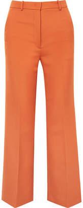 Joseph Grain De Poudre Wool-blend Flared Pants - Orange