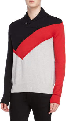 Sean John Color Block Shawl Sweater