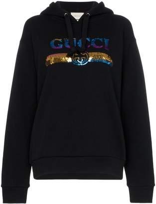 Gucci Sequin Logo Hoodie