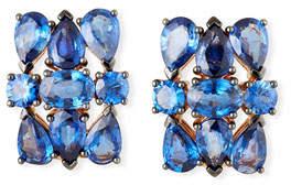Etho Maria Mixed-Cut Blue Sapphire Earrings