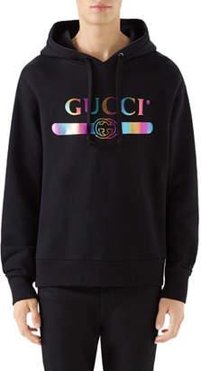 Gucci Men's Logo Graphic Pullover Sweatshirt