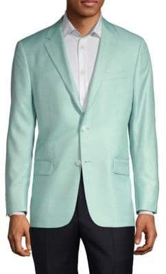 Hickey Freeman Milburn II Wool Silk Sport Coat