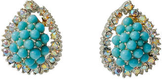 One Kings Lane Vintage Kramer Turquoise Cluster Earrings