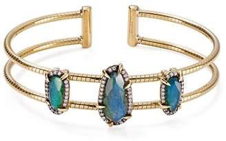 Nadri Jasmine Double-Row Stone Cuff Bracelet