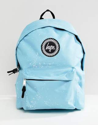 Hype backpack in blue speckle print