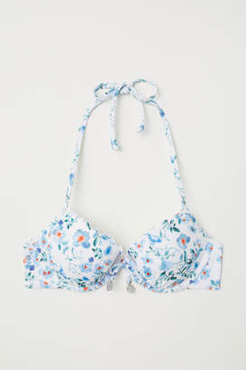 H&M Push-up Bikini Top - White
