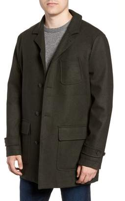 Woolrich Regular Fit Melton Wool Blend Coat