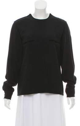 Stella McCartney Zipper-Accented Long Sleeve Blouse