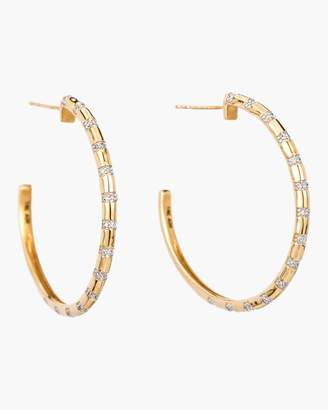 Adina XL Diamond Stripe Hoop Earrings