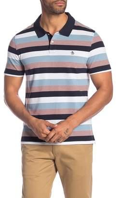 Original Penguin Colorblock Stripe Short Sleeve Polo