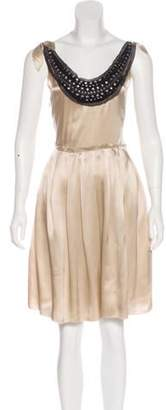 3.1 Phillip Lim Silk Knee-Length Dress Beige Silk Knee-Length Dress