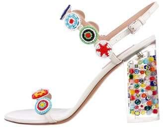 Valentino Embellished Cage Sandals