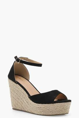 boohoo Espadrille 2 Part Wedges
