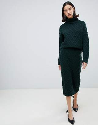 Selected knit pencil skirt