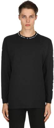 Marcelo Burlon County of Milan Lettering Jersey Long Sleeve T-Shirt