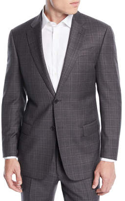Emporio Armani Men's Windowpane Wool Two-Piece Suit