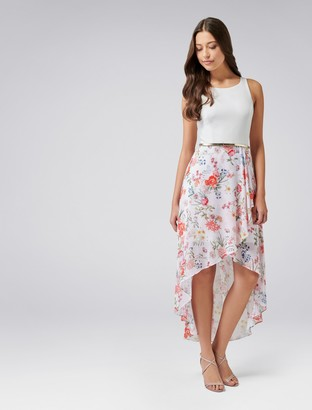 Forever New Danielle High-Low Dress - Pastel Floral Print - 4