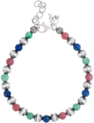 American West Sterling Silver Gemstone Bead Bracelet