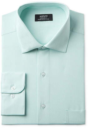 Alfani Men's Big & Tall Classic/Regular Fit Performance Stretch Easy-Care Step Twill Texture Dress Shirt, Created for Macy's