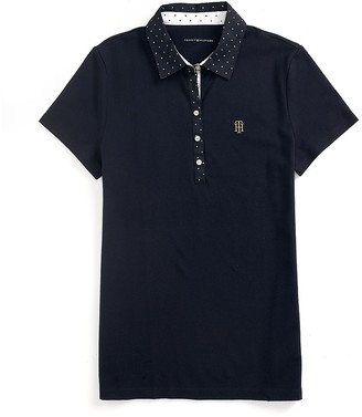 Final Sale-Solid Polo With Dotted Collar $49.99 thestylecure.com