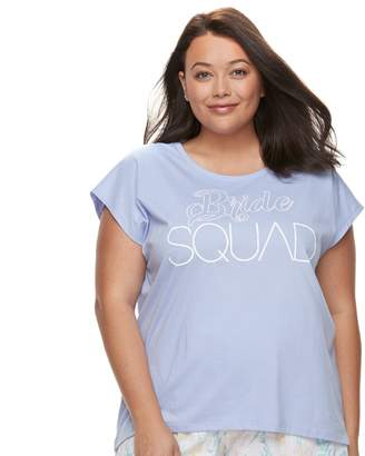 Apt. 9 Plus Size Bridal Graphic Tee