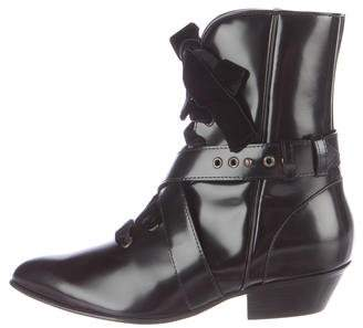 Philosophy di Lorenzo Serafini Patent Leather Pointed-Toe Boots
