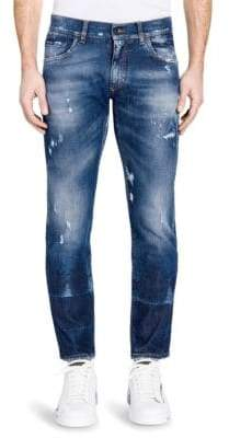 Dolce & Gabbana Light Wash Distressed Jeans